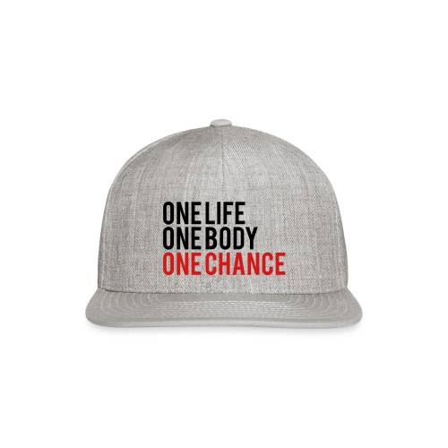 One Life One Body One Chance - Snap-back Baseball Cap