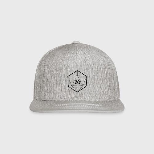 Fantasy Dice d20 - Snap-back Baseball Cap