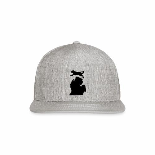 Bark Michigan Husky womens - Michigan Tech Colors - Snap-back Baseball Cap