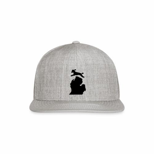 Bark Michigan poodle - Snap-back Baseball Cap