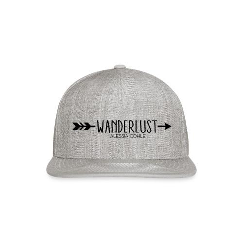 Wanderlust (black logo) - Snap-back Baseball Cap