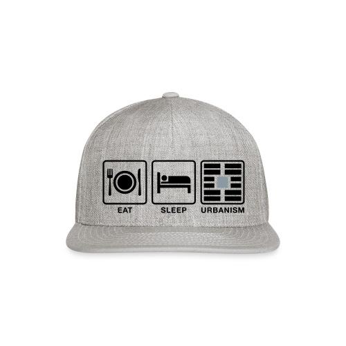 Eat Sleep Urb big fork-LG - Snapback Baseball Cap