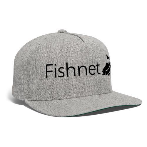 Fishnet (Black) - Snapback Baseball Cap
