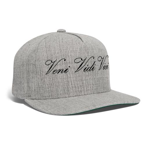 Zyzz Veni Vidi Vici Calli text - Snapback Baseball Cap