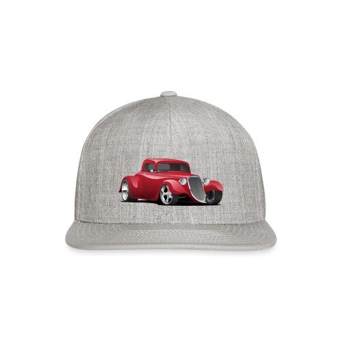 Custom American Red Hot Rod Car - Snapback Baseball Cap