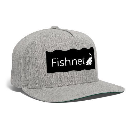 Fishnet (Black & White Wave) - Snapback Baseball Cap