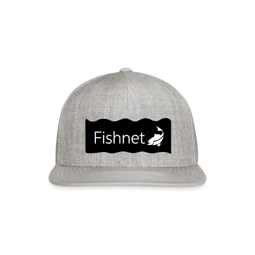Fishnet (Black & White Wave) - Snap-back Baseball Cap