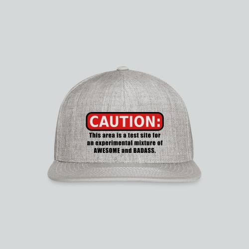 Awesome and Badass - Snapback Baseball Cap