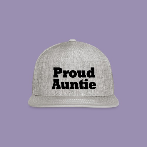 Proud Auntie - Snap-back Baseball Cap