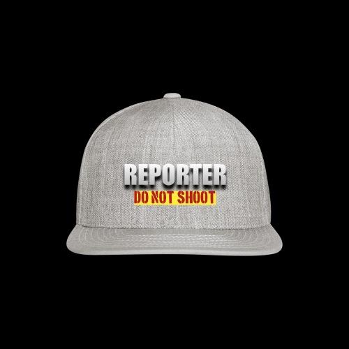 REPORTER. DO NOT SHOOT. - Snap-back Baseball Cap