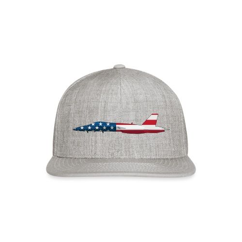 American Flag Military Jet - Snapback Baseball Cap
