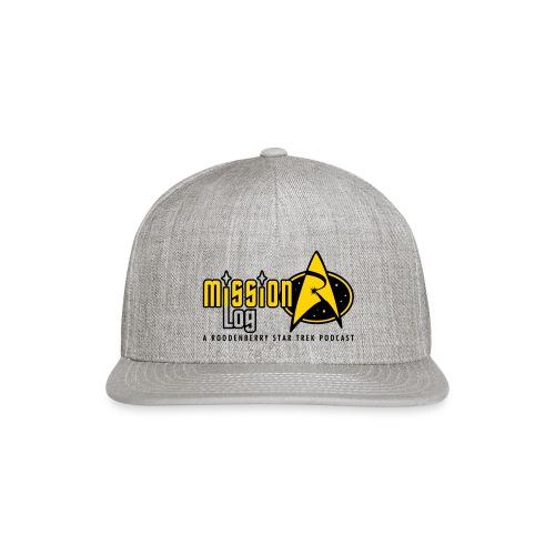 Logo Wide 2 Color Black Text - Snapback Baseball Cap