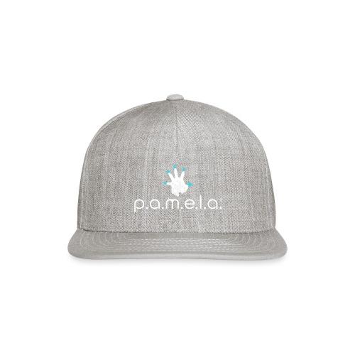 P.A.M.E.L.A. Logo White - Snapback Baseball Cap