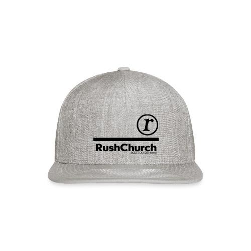 RushChurch Black - Snap-back Baseball Cap