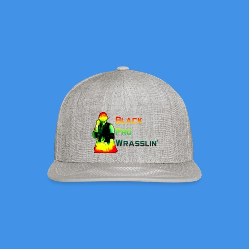 Black Pro Wrasslin - Snap-back Baseball Cap