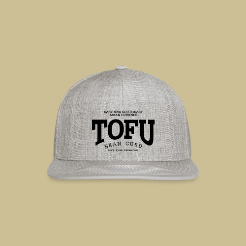 Tofu (black) - Snap-back Baseball Cap