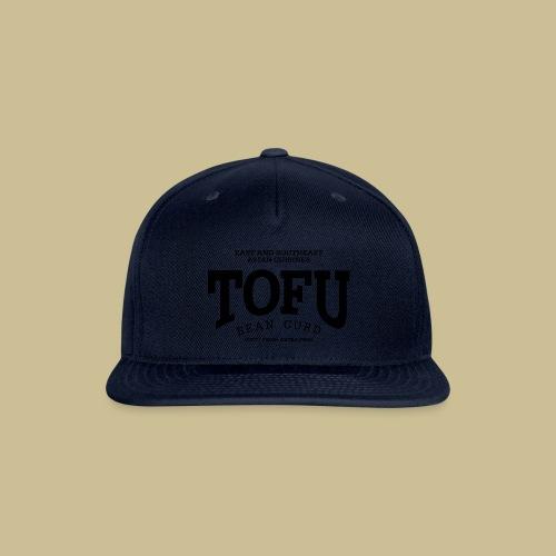 Tofu (black) - Snap-back Baseball Cap