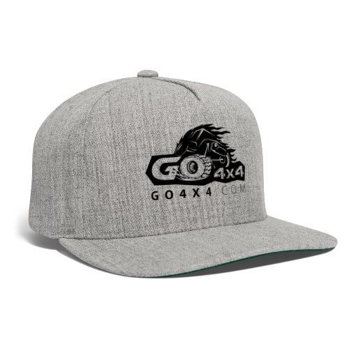 go bw white text black - Snapback Baseball Cap