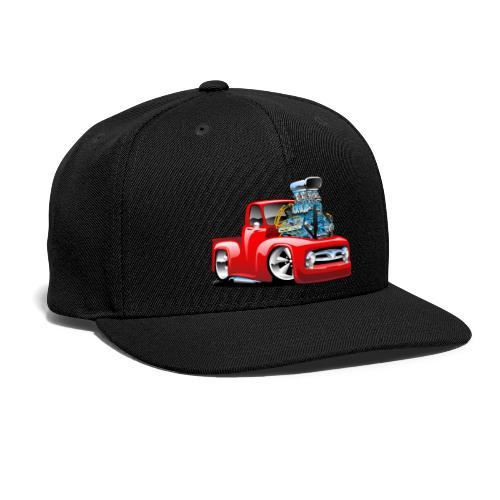 American Classic Hot Rod Pickup Truck Cartoon - Snap-back Baseball Cap