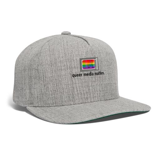 Queer Media Matters TV Logo in Black - Snapback Baseball Cap