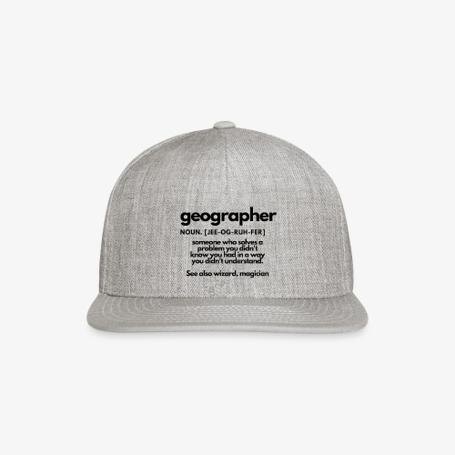 geographer - Snap-back Baseball Cap