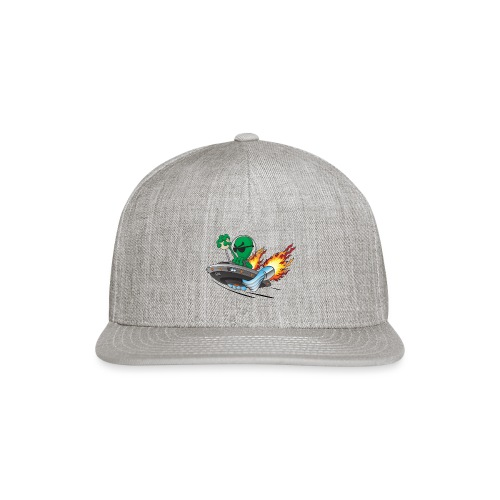 UFO Alien Hot Rod Cartoon Illustration - Snap-back Baseball Cap