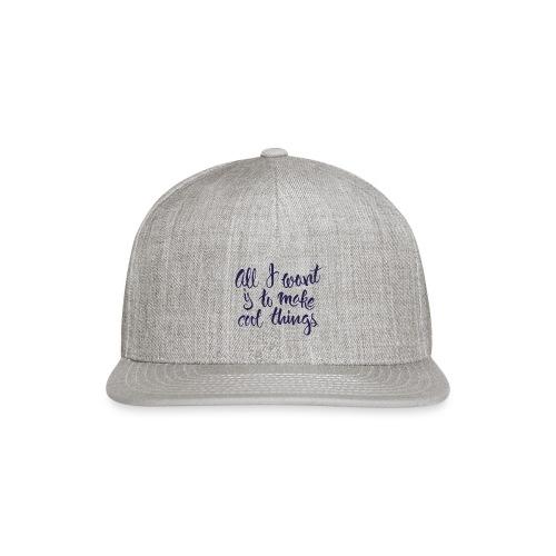 Cool Things Navy - Snap-back Baseball Cap