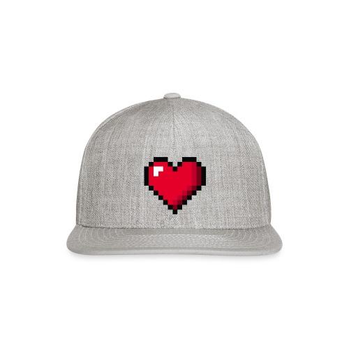 Pixel 8 bit Happy Valentine s Day Heart for Gamers - Snapback Baseball Cap