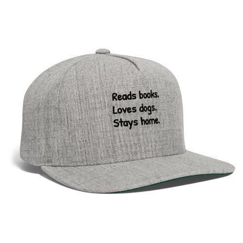 Loves Dogs - Snapback Baseball Cap