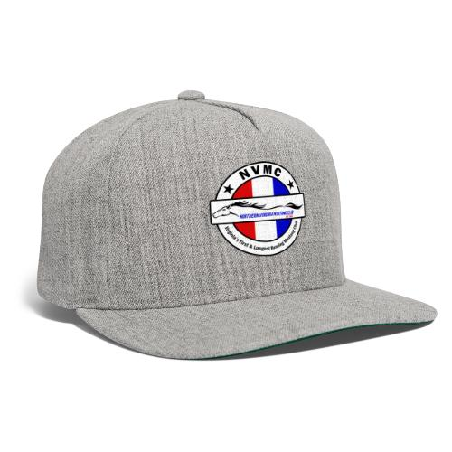 Circle logo on white with black border - Snapback Baseball Cap