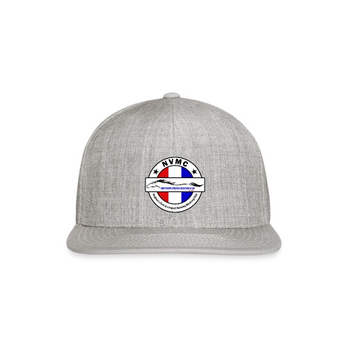 Circle logo on white with black border - Snapback Baseball Cap