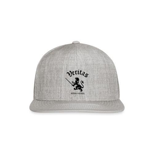 Black Lion Veritas Logo - Snap-back Baseball Cap