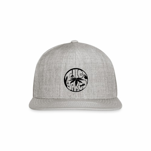 tWicEbakED logo, black circle - Snapback Baseball Cap