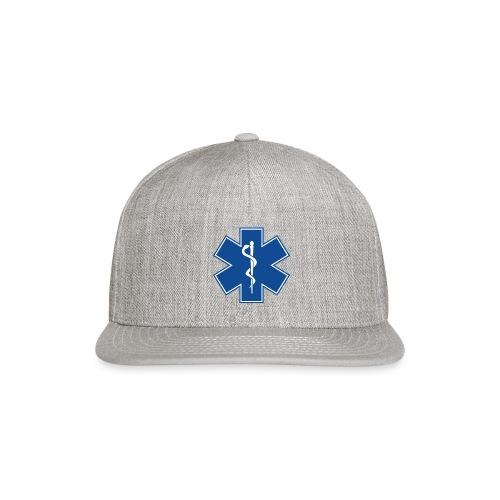 EMT Health Care Rod of Asclepius Medical Symbol - Snap-back Baseball Cap