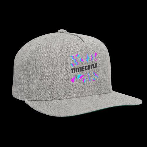 Timechyld Logo with Retro Pattern (Black) - Snapback Baseball Cap