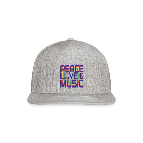 Peace, Love & Music - Snapback Baseball Cap