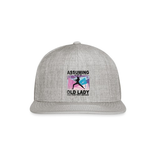 Your first mistake pink blue and purple - Snap-back Baseball Cap