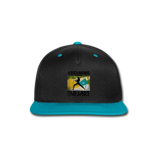 Your first mistake green and blue - Snap-back Baseball Cap