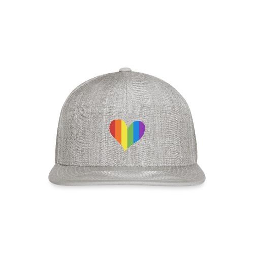 Pride Rainbow Heart - Snapback Baseball Cap