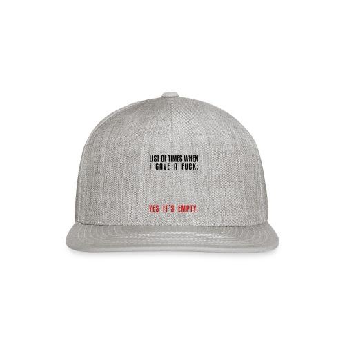 List - Snapback Baseball Cap