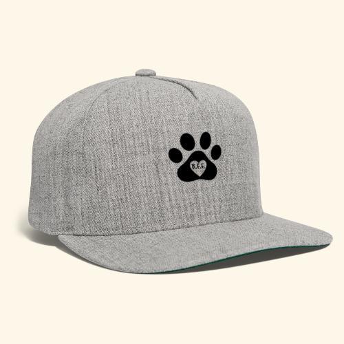 Dog Paw B.F.F. Design - Snapback Baseball Cap