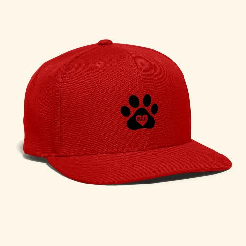 Dog Paw B.F.F. Design - Snap-back Baseball Cap