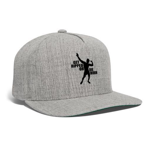 Zyzz Silhouette Get Ripped - Snapback Baseball Cap