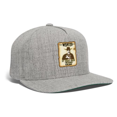 Cowboy Ox-Mad Wanted Poster! - Snapback Baseball Cap