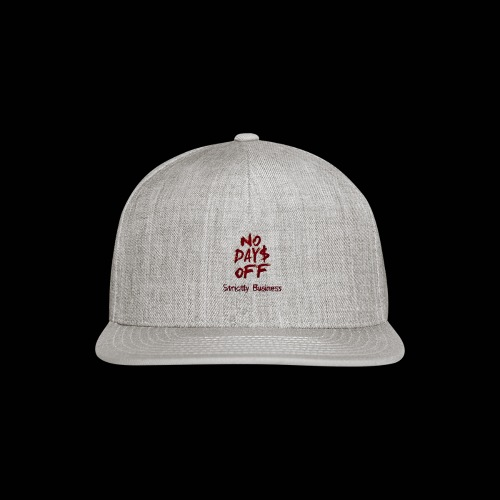 STRICTLY BUSINESS PRODUCTIONS NO DAYS OFF - Snapback Baseball Cap