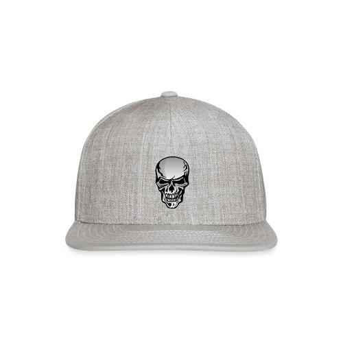 Chrome Skull Illustration - Snap-back Baseball Cap