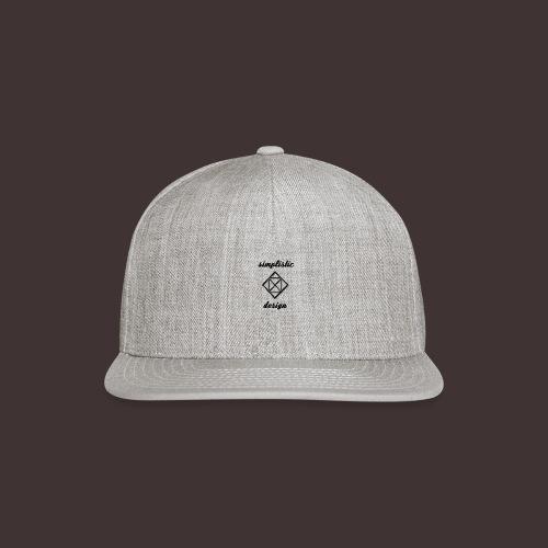 Simplistic Design Logo With Text - Snapback Baseball Cap