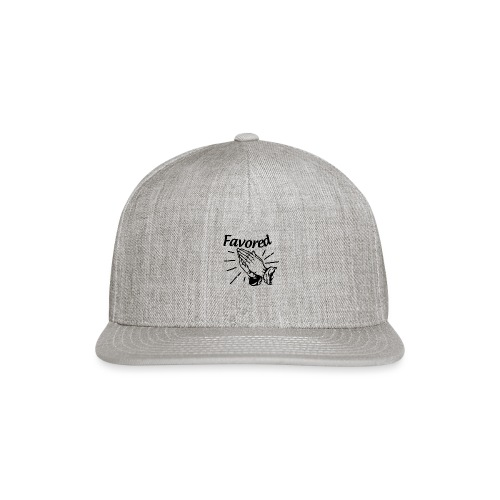 Favored - Alt. Design (Black Letters) - Snap-back Baseball Cap
