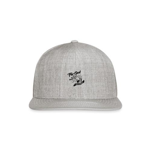 For God So Loved The World… - Alt. Design (Black) - Snap-back Baseball Cap