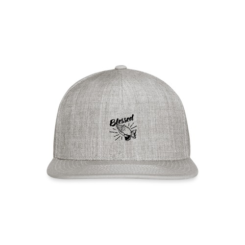 Blessed (Black Letters) - Snap-back Baseball Cap
